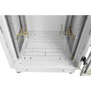 Монтаж одного изделия 1U в телекоммуникационный шкаф