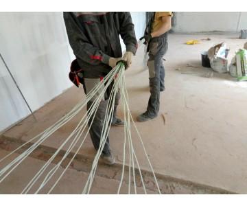 Монтажные работы по протяжке кабеля UTP