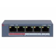 Сетевой неуправляемый коммутатор HiWatch DS-S504P(B)