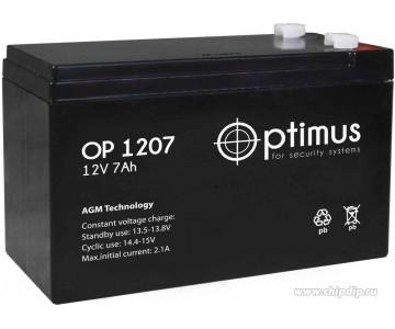 Аккумуляторная батарея Optimus OP 12-7